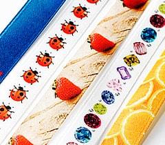 Атласная лента с печатью полноцветного изображения