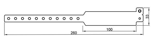 Стандартный контрольный браслет с чипом