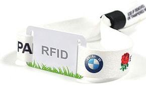 Текстильный контрольный браслет с RFID меткой