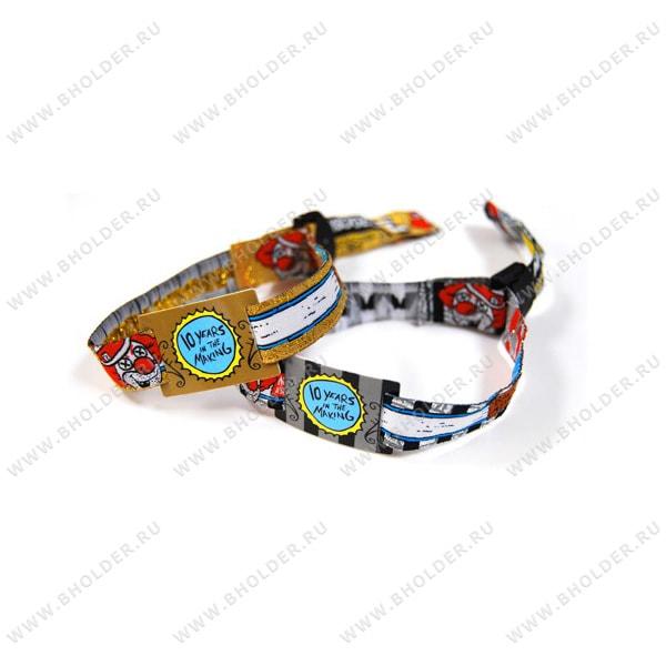 Тексильный контрольный браслет с полноцветной печатью и RFID меткой