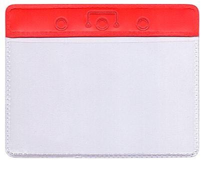 Карман с цветным верхом (красный)