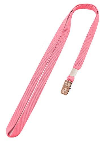 Лента розовая с клипсой