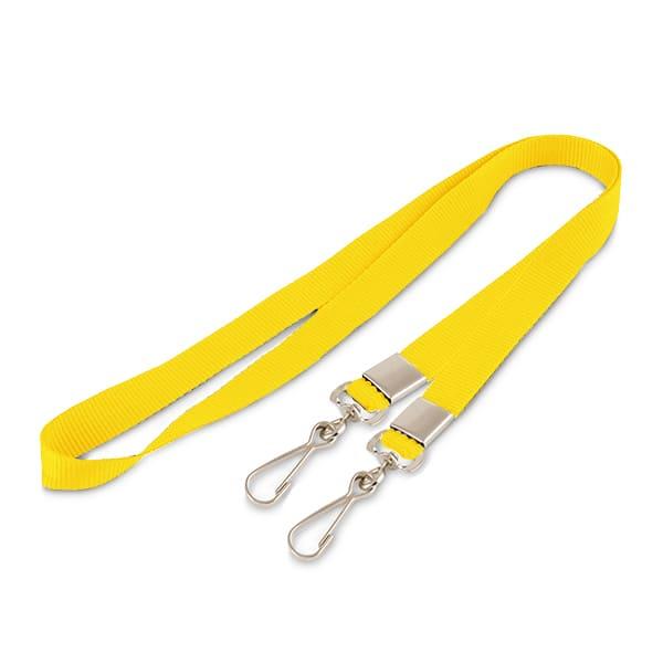 Желтая лента с двумя карабинами