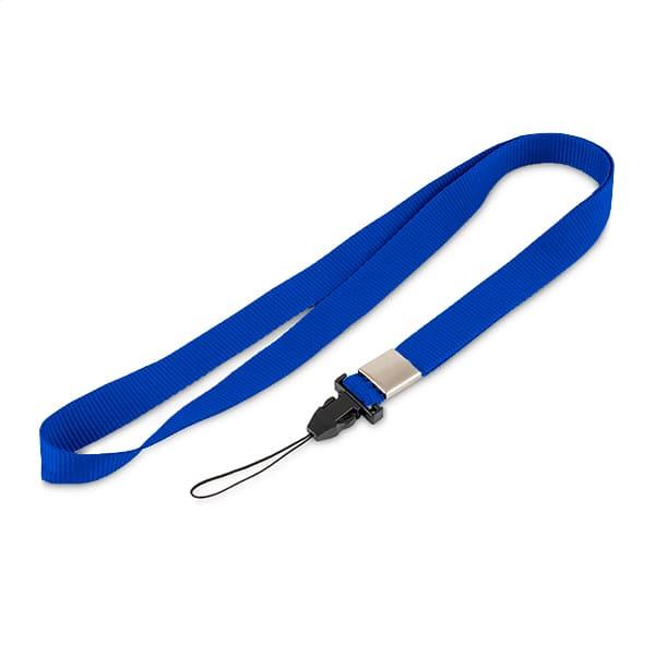 Синяя лента с фастексом для мобильного телефона