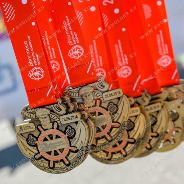 Лента для медали, полноцветная печать, стандартная сшивка
