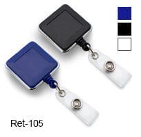 Ретрактор квадратный с металлической отделкой Ret-105