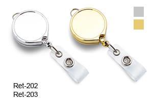 Ретрактор пластиковый серебро, золото Ret-202 и Ret-203